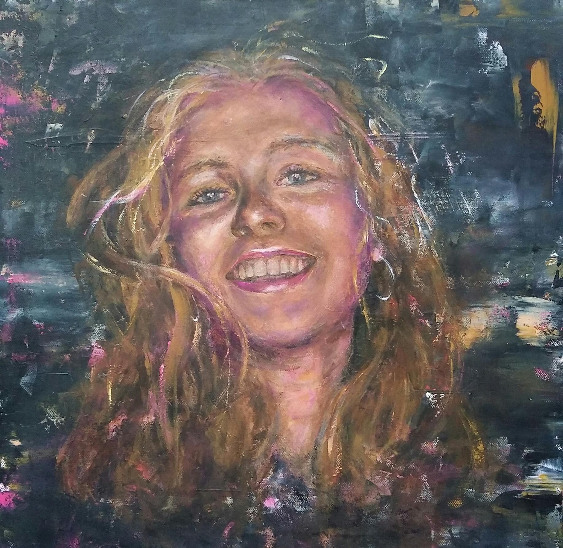 Rosemarije | Portretten | 60x60 | Canvas | Privé