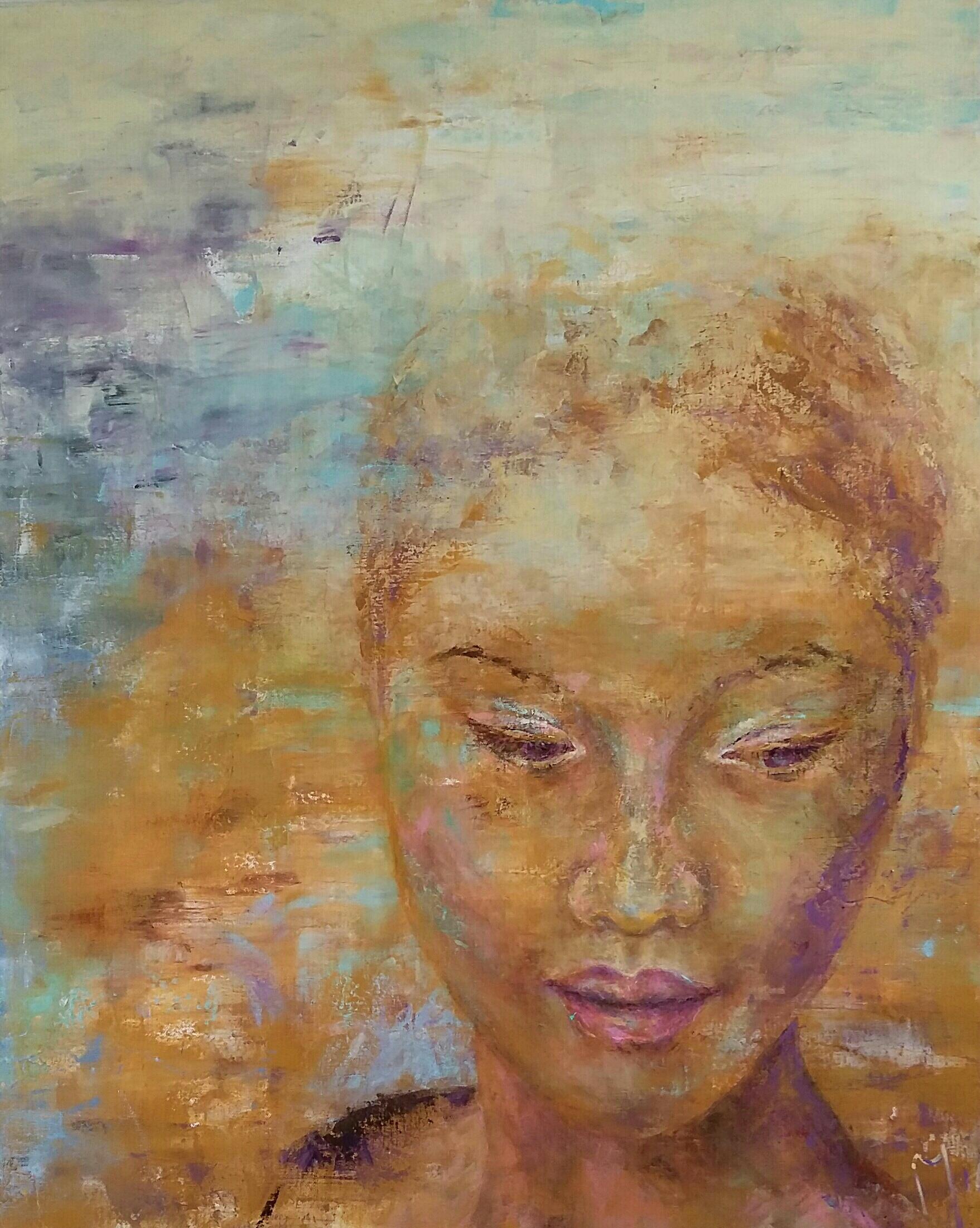 Asian Woman | Portretten | 80x100 | Linnen Aluminium Frame