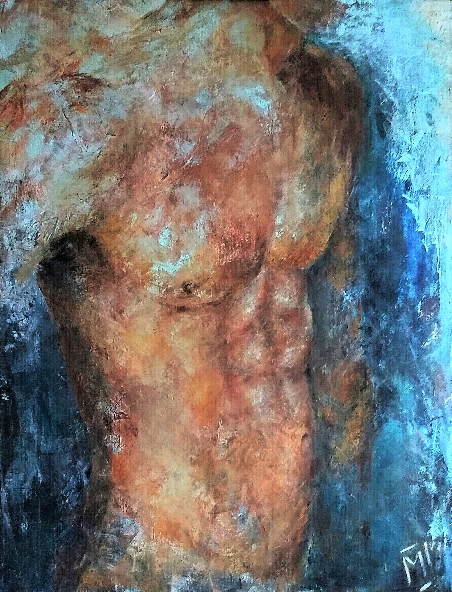 Male Torso | Overige | 70x90 | Canvas