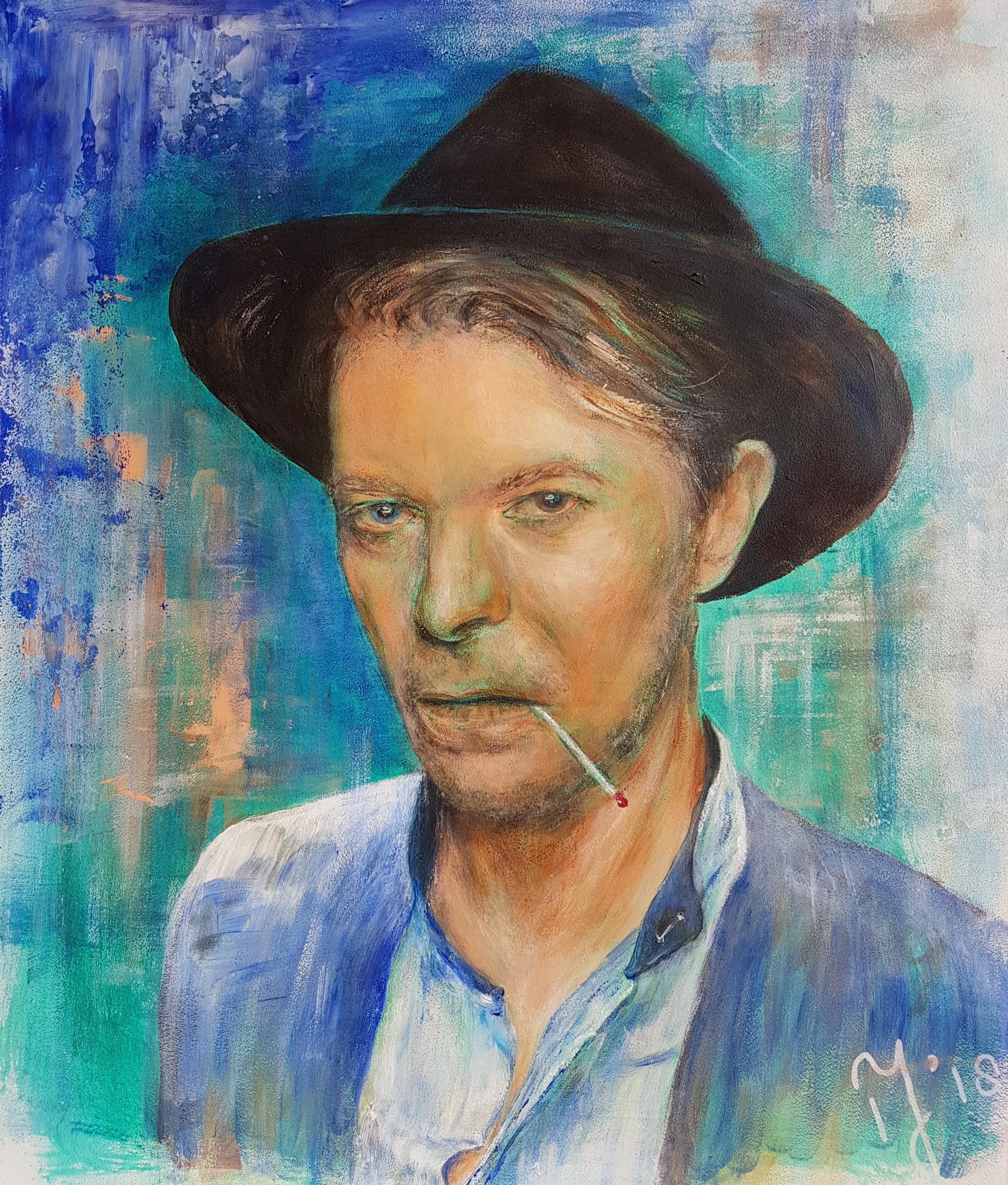 David Bowie | Portretten | 33x40 | Paneel | Niet Meer Beschikbaar