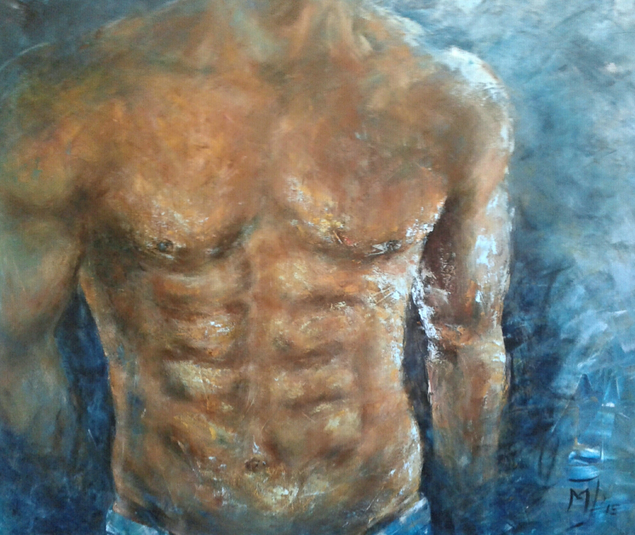 Muscular | Overige | 110x120 | Canvas
