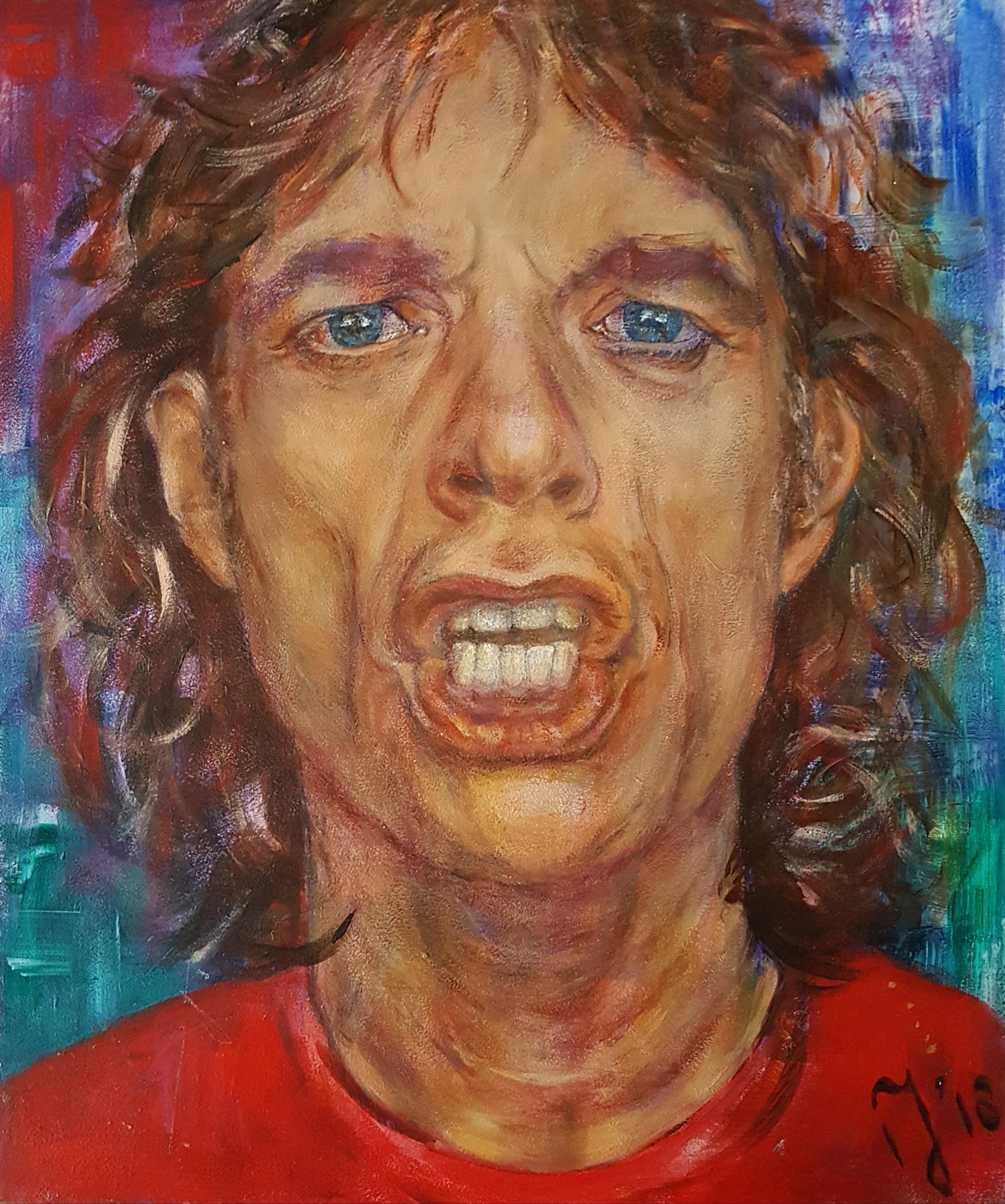 Mick Jagger | Portretten | 33x40 | Paneel