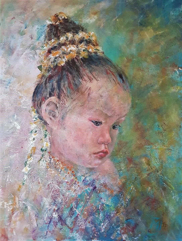 Asian Girl | Portretten | 70x90 | Canvas | Niet Meer Beschikbaar