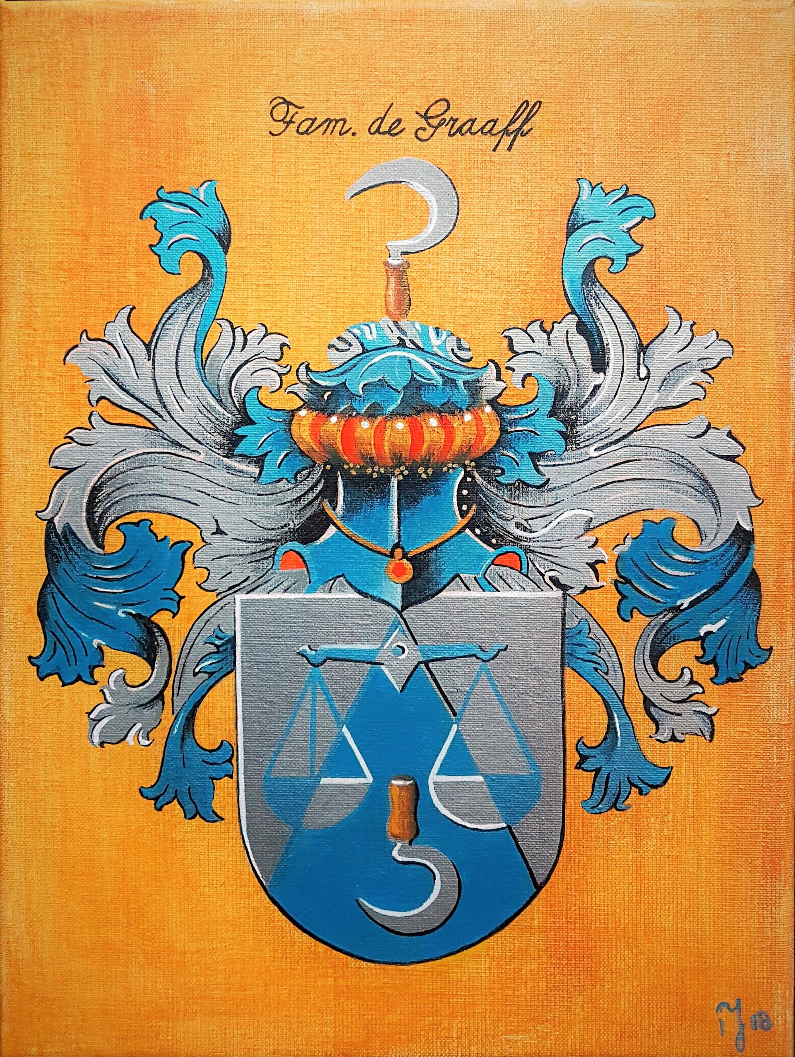Family Crest | Overige | 30x40 | Acryl Op Linnen (In Opdracht)