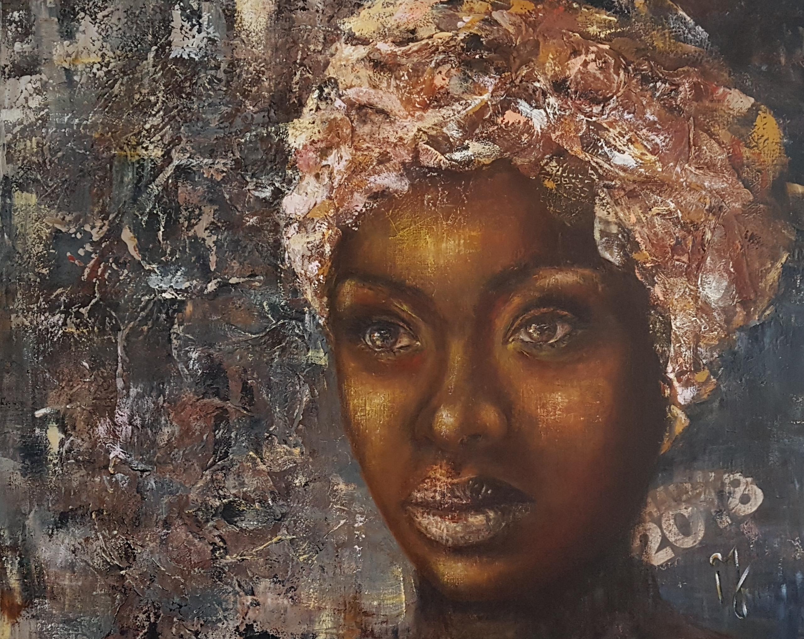 Shine Like A Diamond | Portretten | 80x100 |  Acryl Linnen Aluminium Frame | Niet Meer Beschikbaar