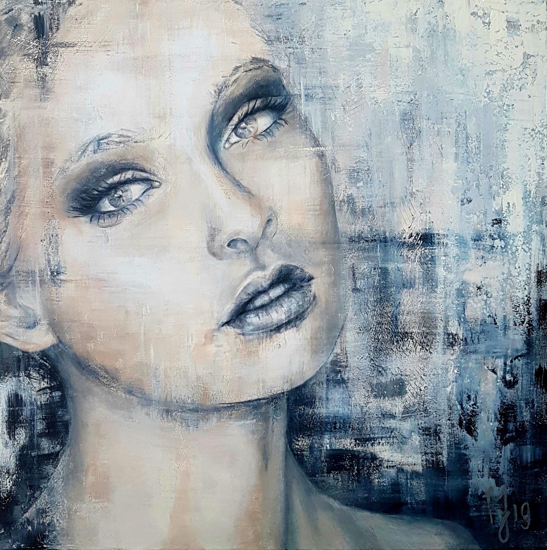 Dreamer | Portretten | 90x90 | Acryl Op Linnen | Prive