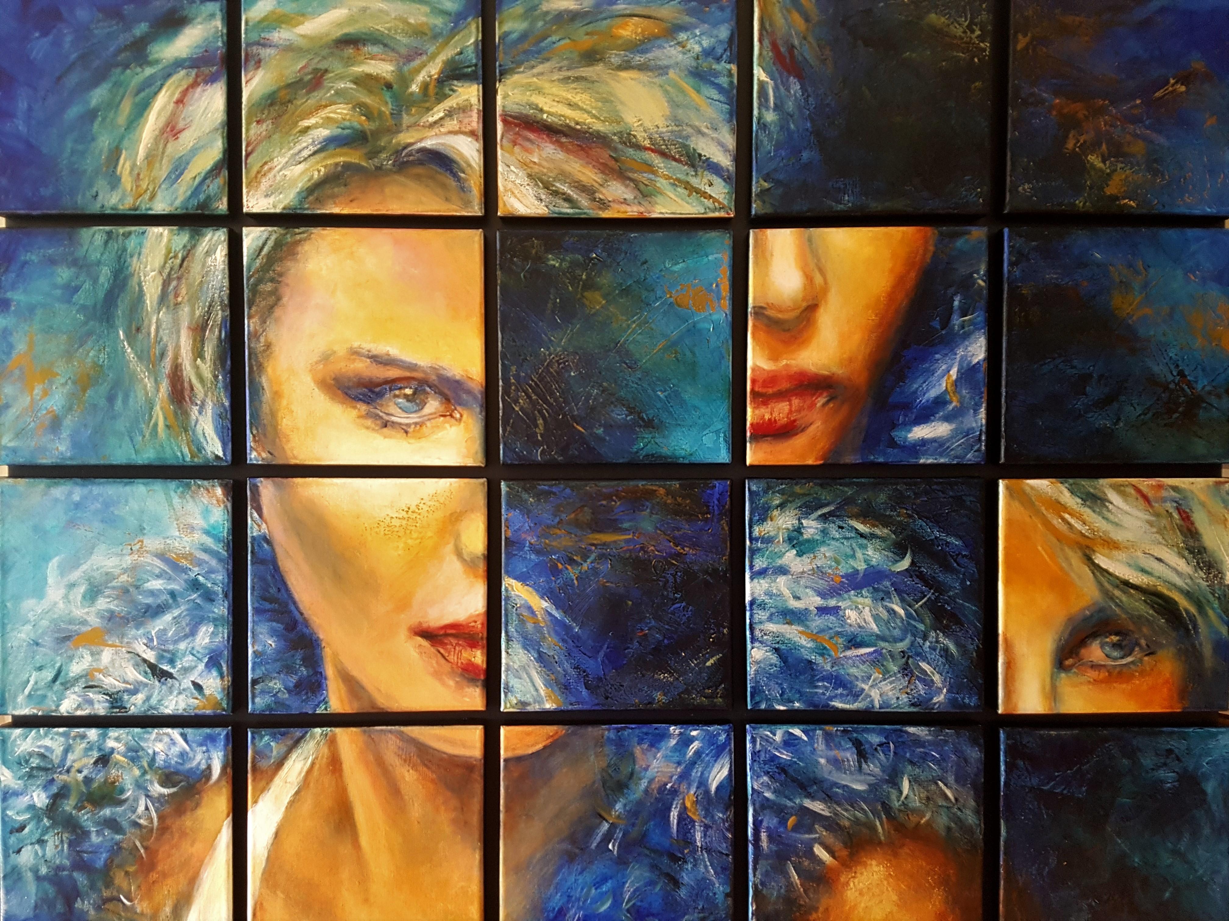 Puzzle Me...  Portretten   83x105   Acryl   Niet Meer Beschikbaar