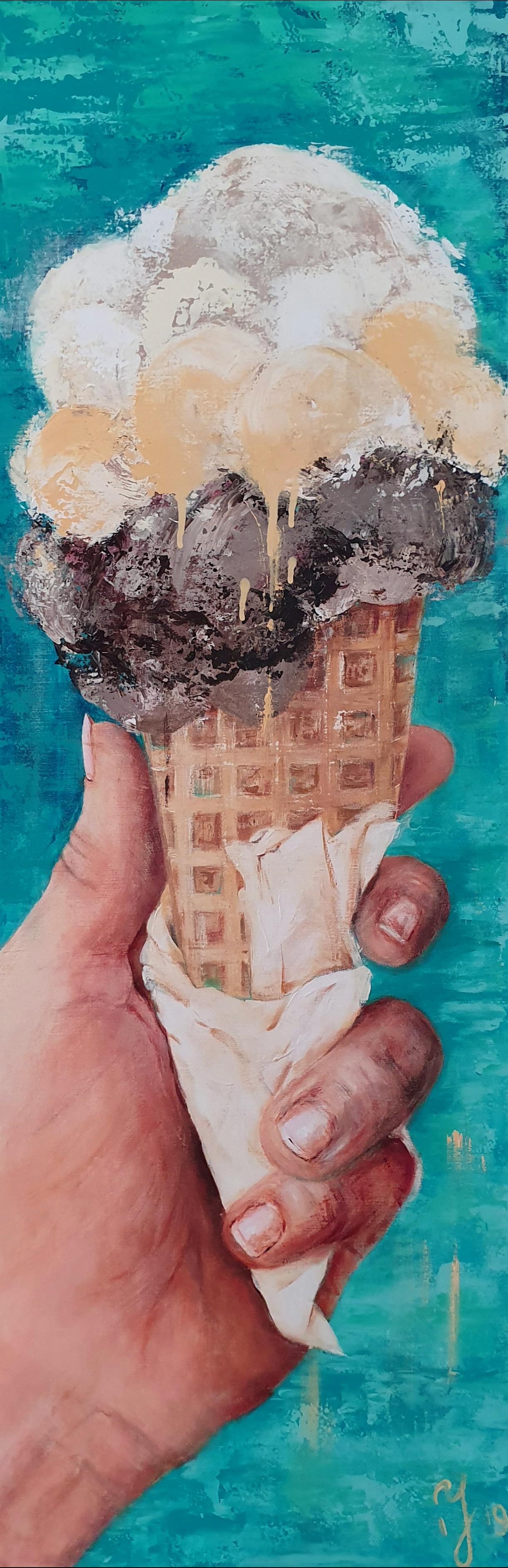 Mmmmmm...Tasty Ice cream | Overige | 50x100 | Acryl Op Linnen