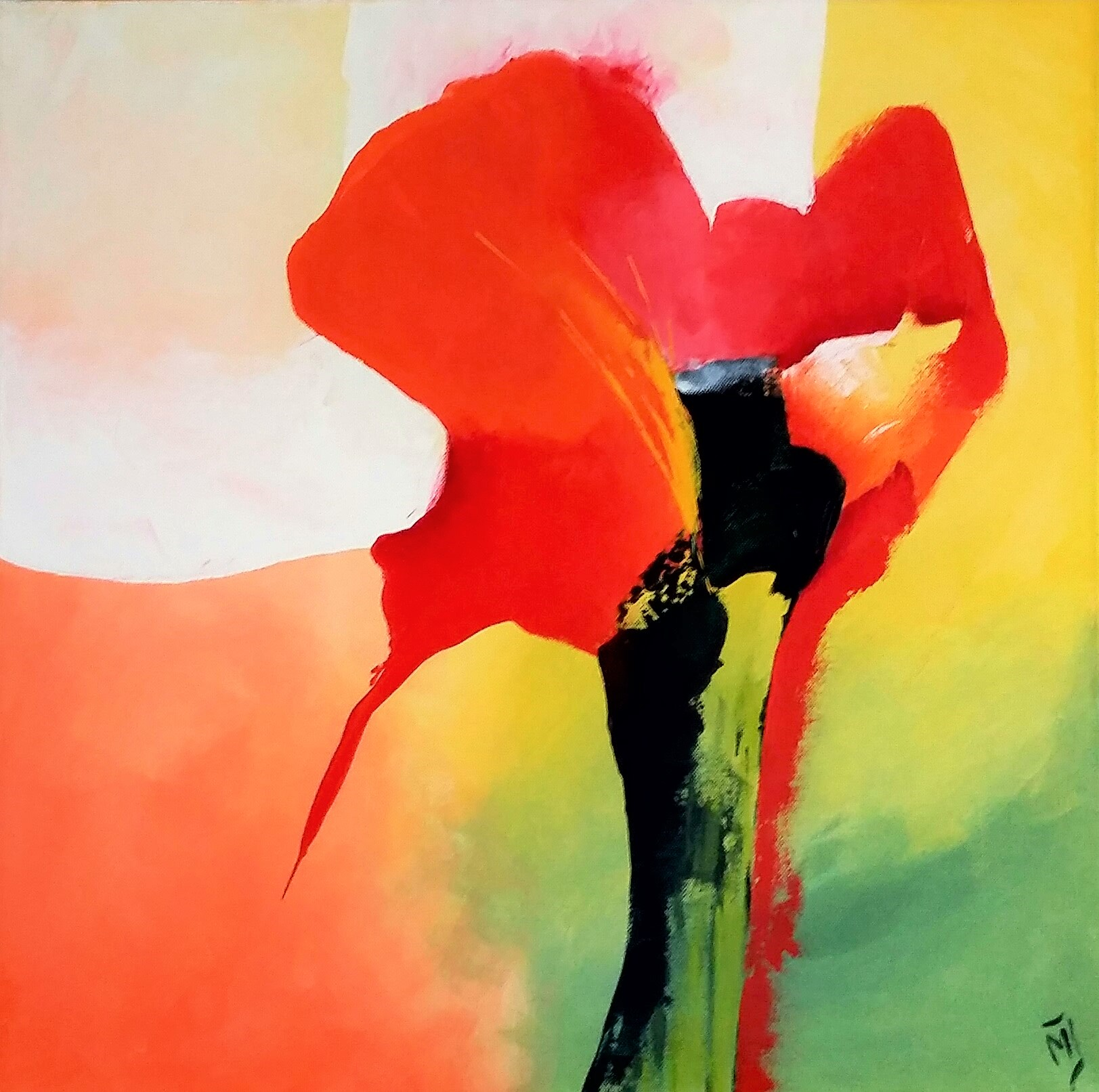 Flower Abstract | Natuur | 60x60 | Canvas