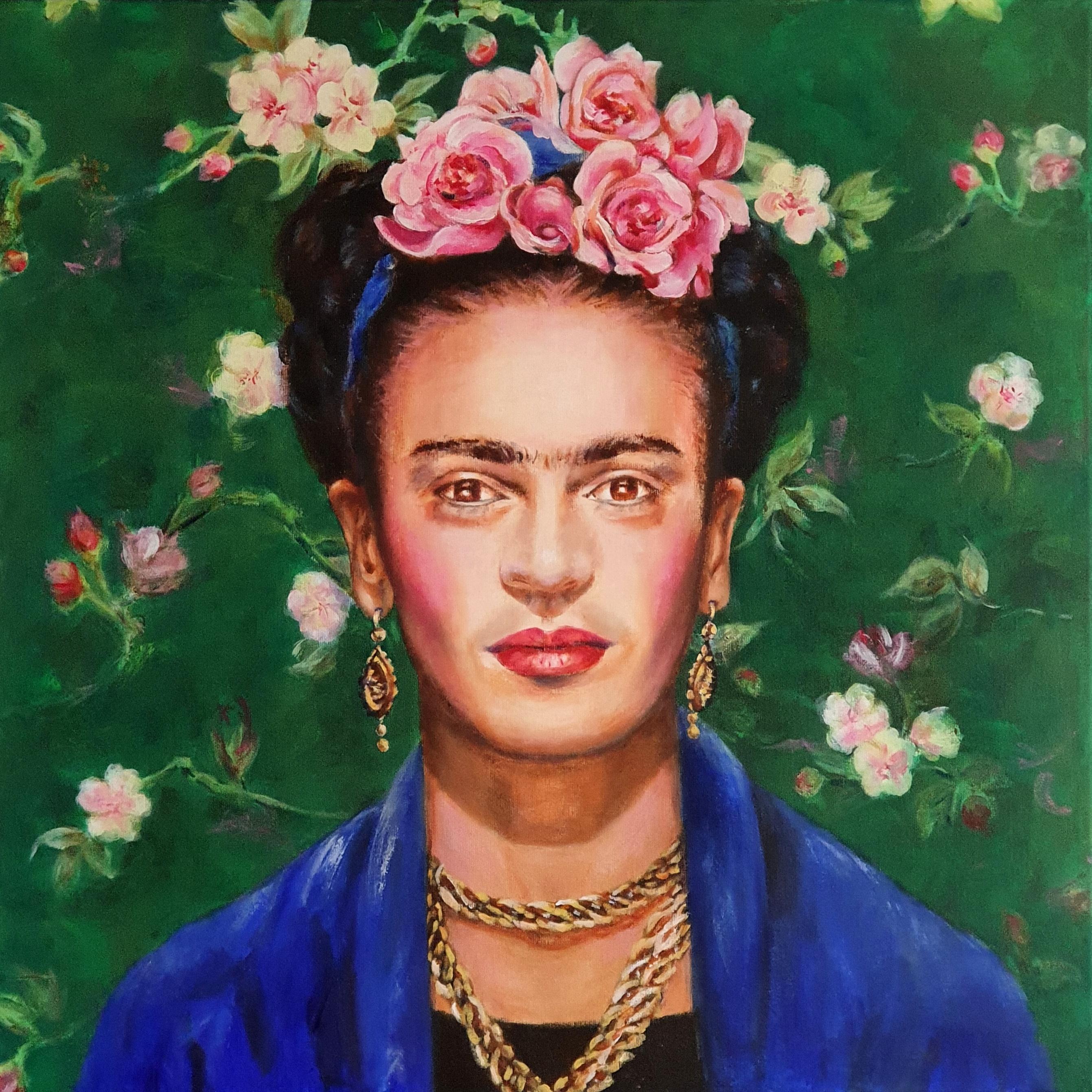 Frida Kahlo   Portretten   90x90   Acryl Op Linnen