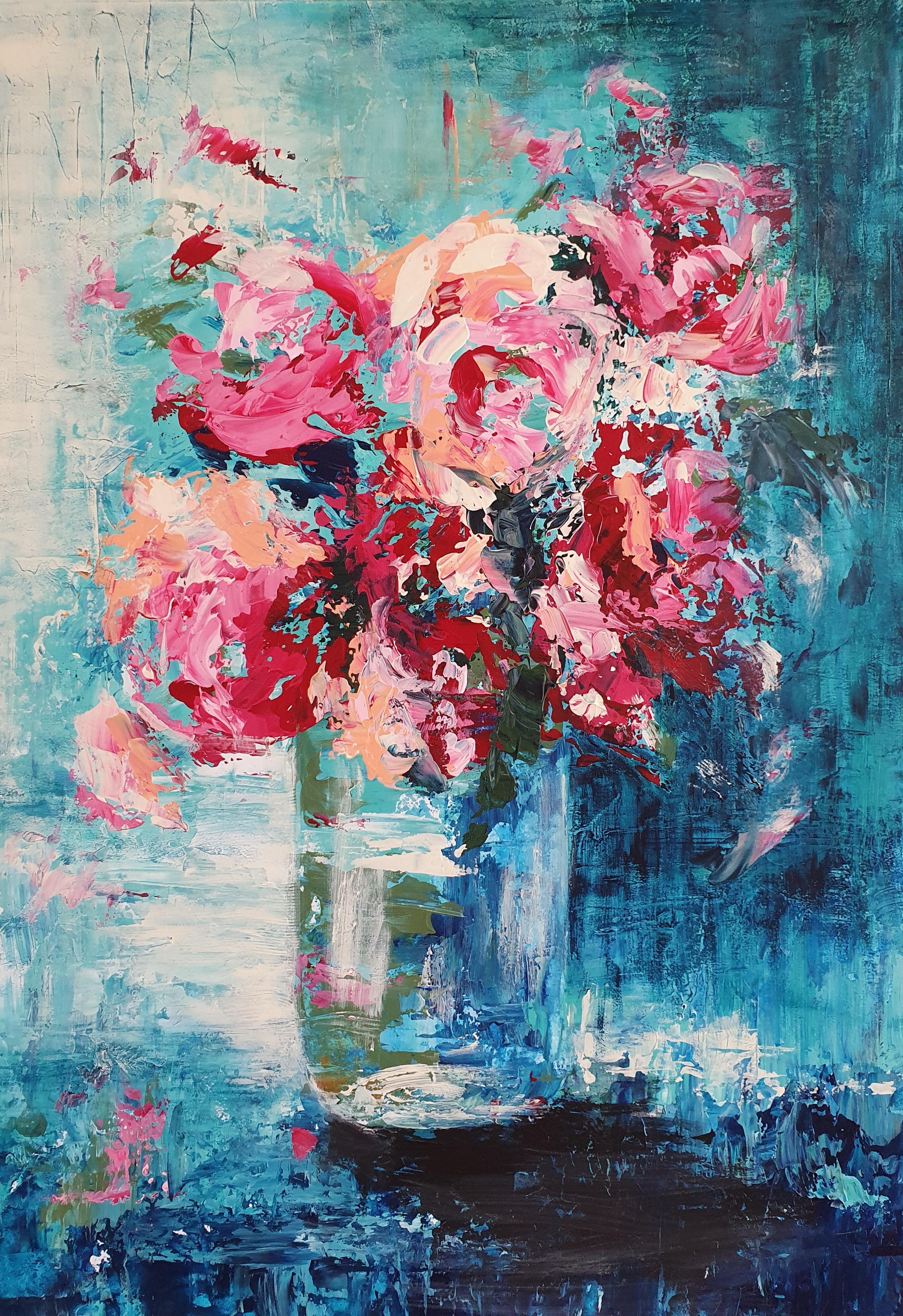 Floral Splendor |  Natuur | 38,5x55,5 | Acryl Op Paneel (Overgoten met epoxy)