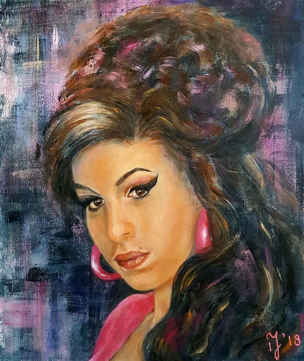 Amy Winehouse   Portretten   33x40   Paneel