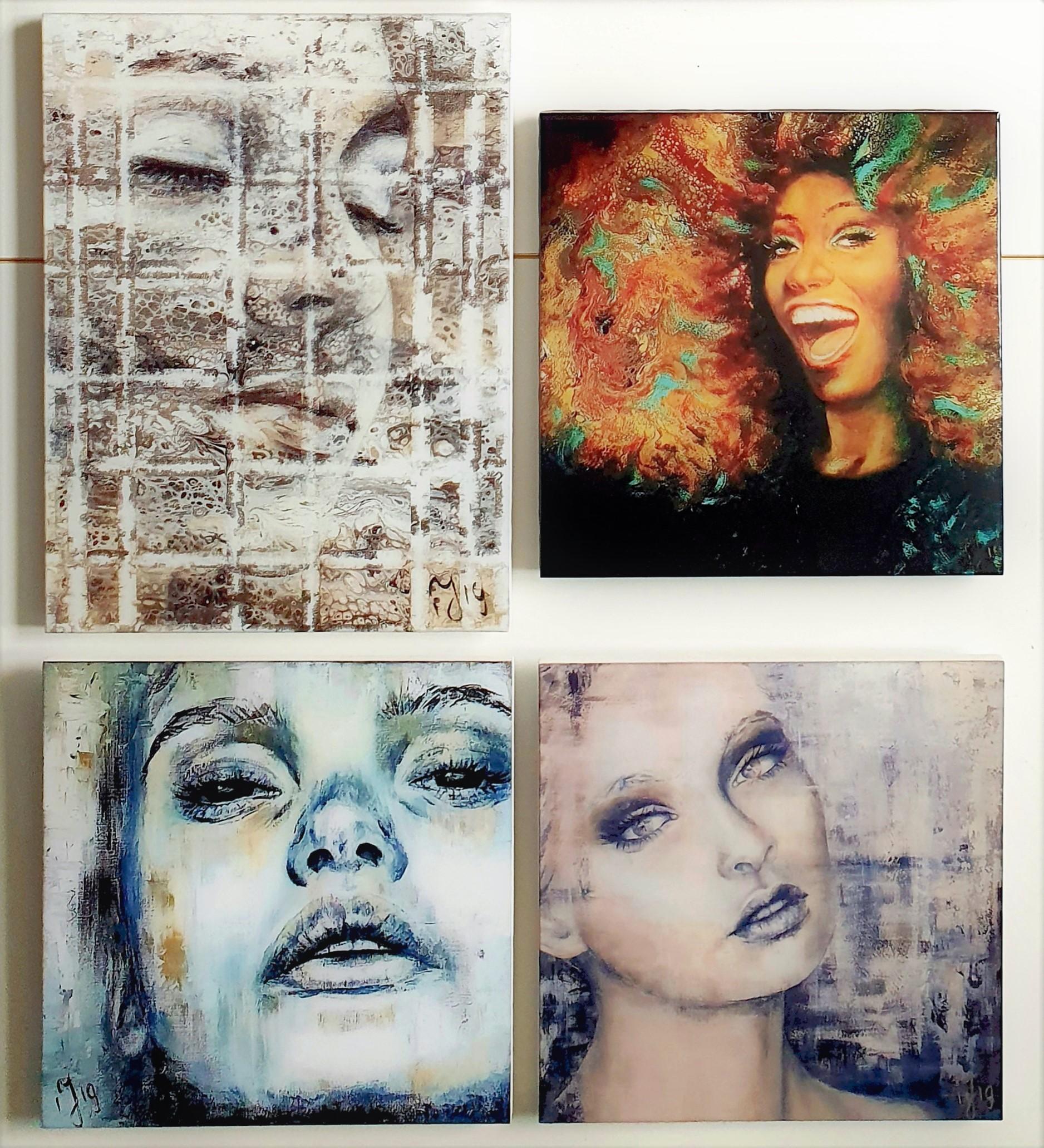 """Collage Van 4 Epoxy """"Tegels Van 30x30 { 30x40}"""