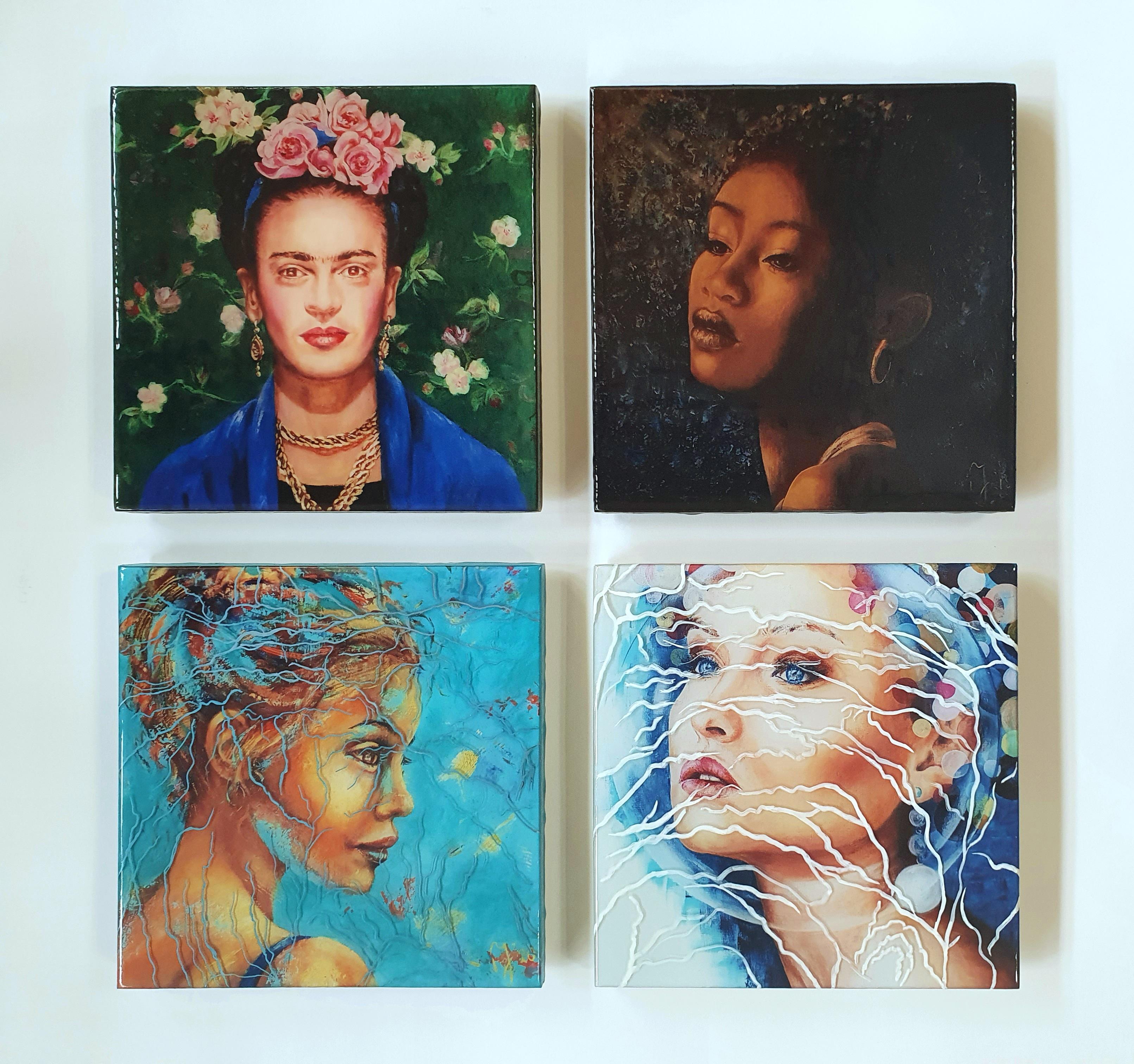 """Collage Van 4 Epoxy """"Tegels Van 20x20"""