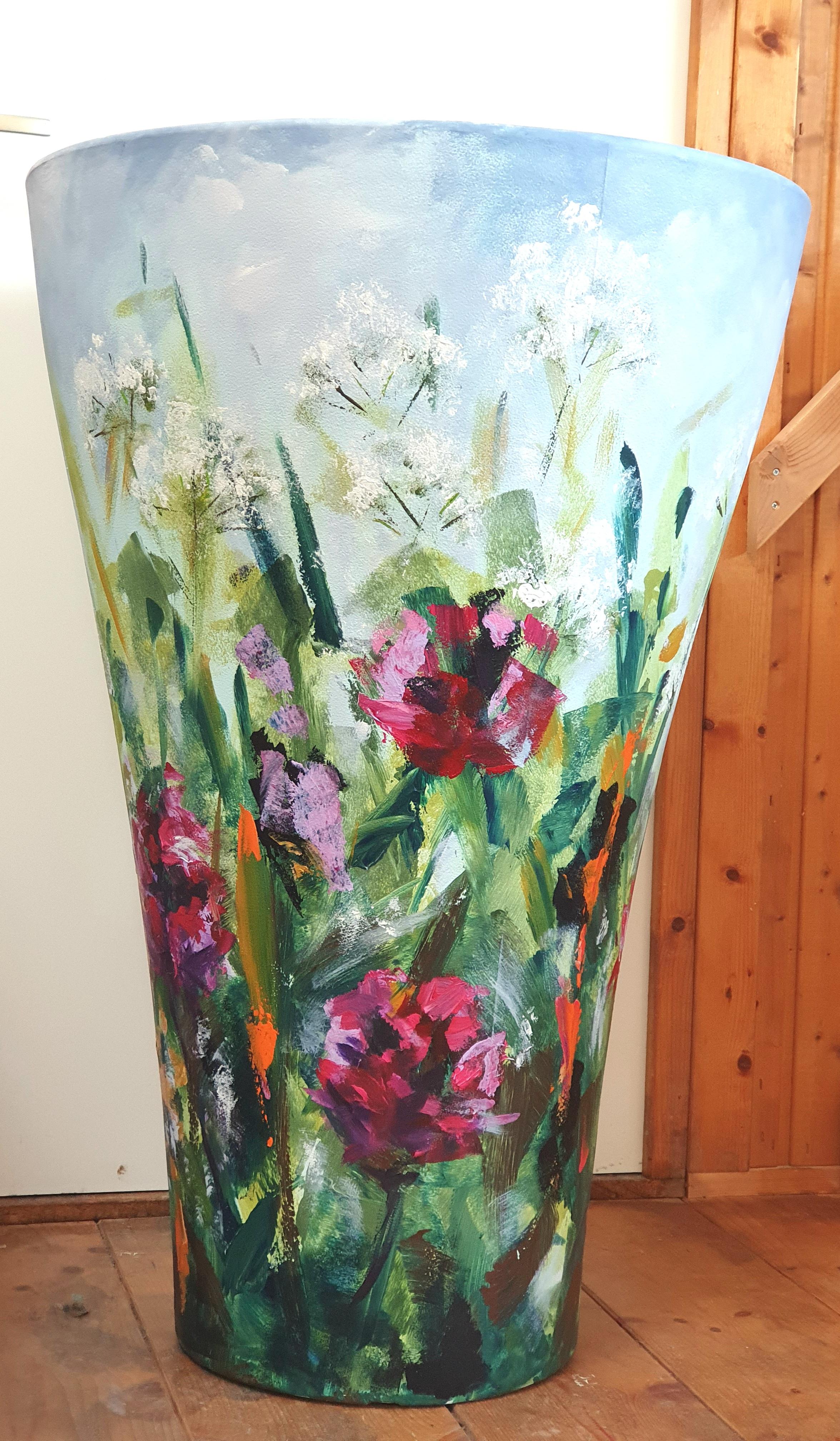Painted Flower Pot | Natuur | Acryl Op Kunstof