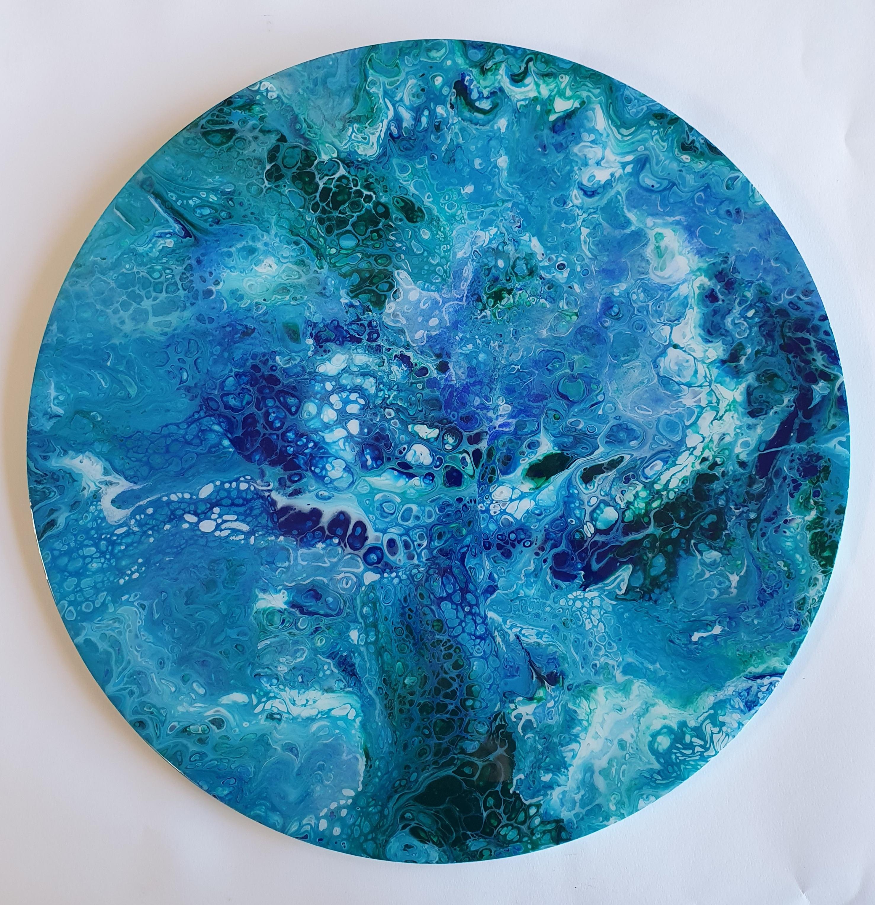Blue Tree | Overige | 50 cm doorsnede | Acryl/Epoxy Op Paneel
