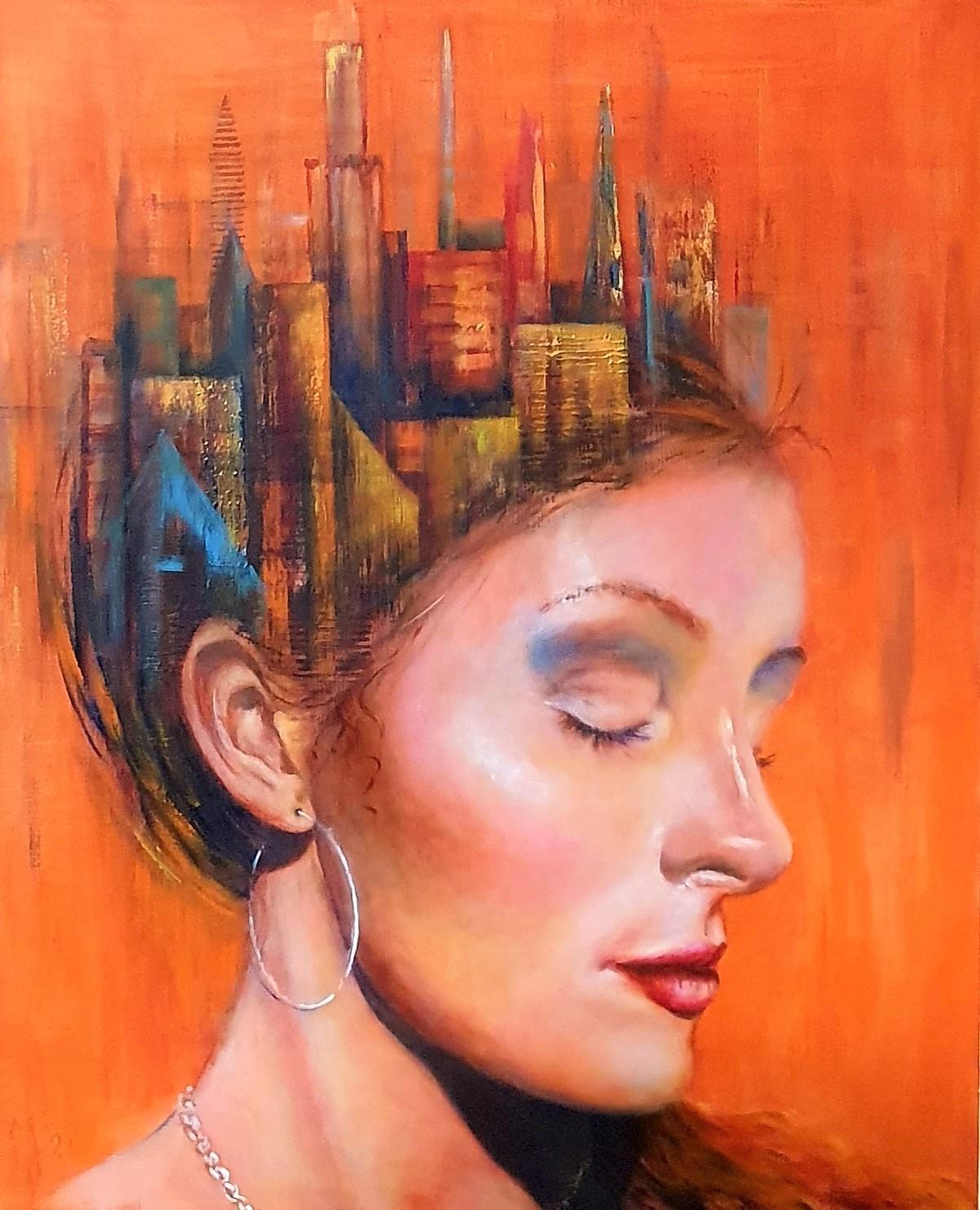 The City Of My Memory   Portretten   80x100   Acryl Op Linnen
