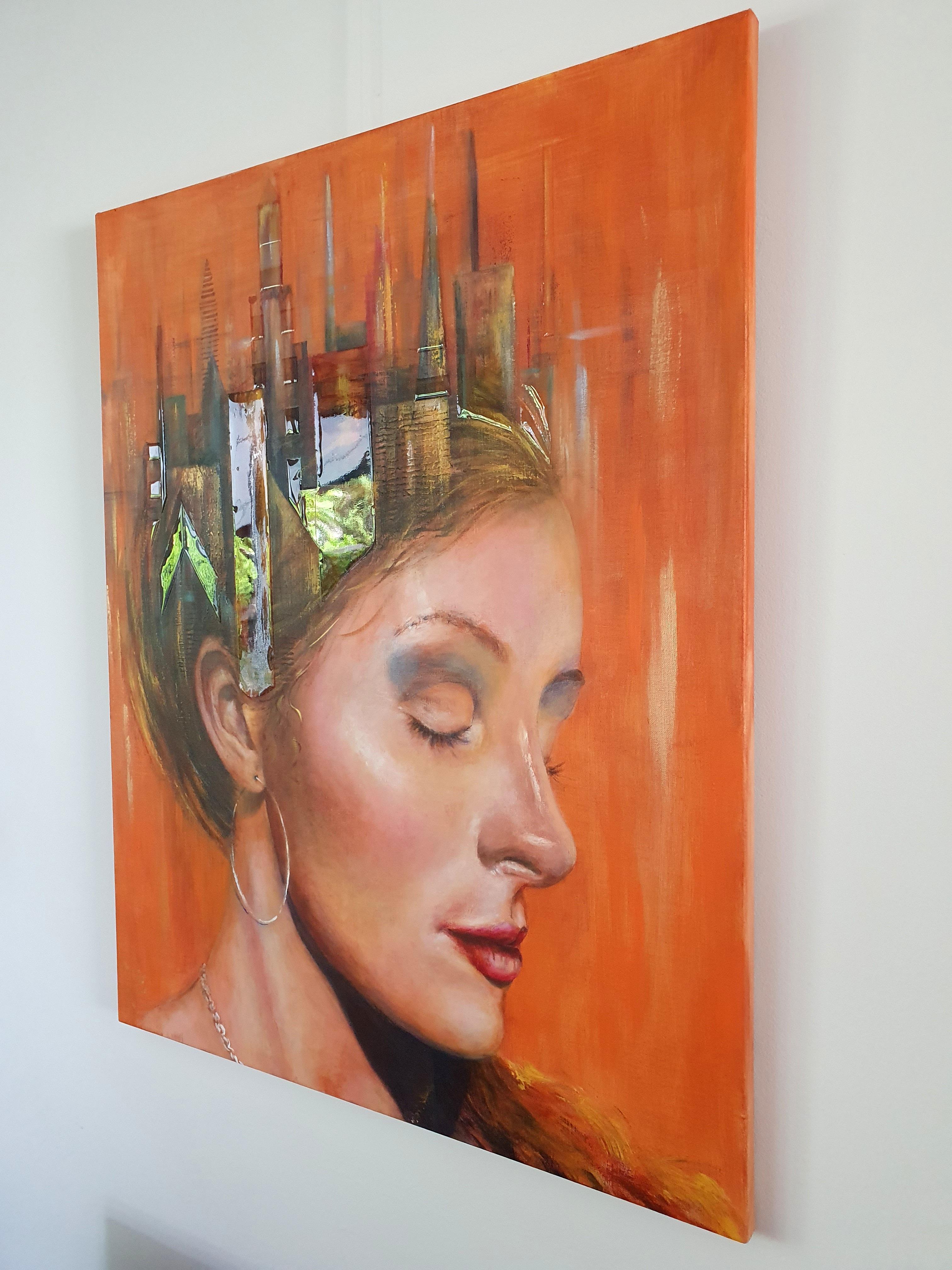 Zijaanzicht: The City Of My Memory   Portretten   80x100   Acryl Op Linnen